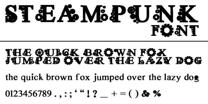 Steampunk Font by hannarb