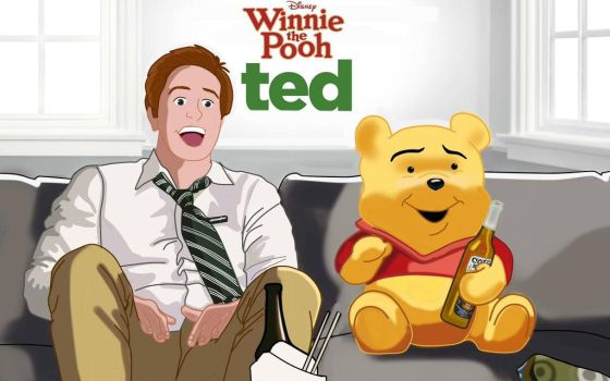winnie the pooh ted style by nissimaharonov