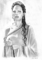 Angelina Jolie as Olympias by Skylark6277