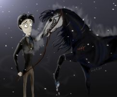 Victor Van Dort and a Stallion by fabuli