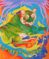 Fun With Colors - Green Tiger by WindSong83
