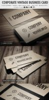 Corporate Vintage Business Card by vitalyvelygo