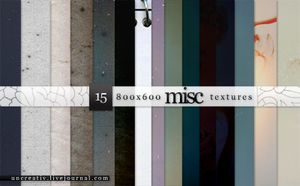15 misc textures - 800x600 by Sarytah