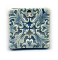 Cerulean Ceramic Pendant by ChinookDesigns