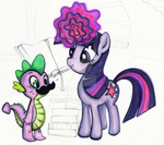 12232012 twilight and spike by fuzzycute