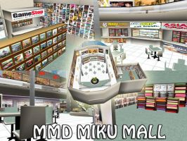 MMD Miku Mall Stage Download by SachiShirakawa