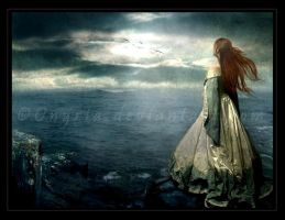 Here, on this cliff I... by Onyria