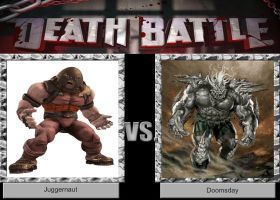 DEATH BATTLE Idea Juggernaut VS Doomsday by JefimusPrime