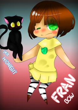 Fran Bow and Mr Midnight - Fanart by NyannChan