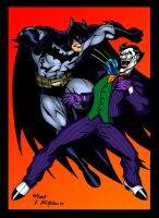 Batman VS The Joker colored by Balsavor