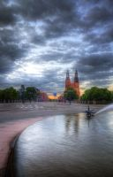 Fountain and Church by HenrikSundholm