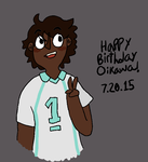 happy (late) birthday oikawa by chokolatkat