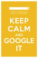 KEEP CALM AND GOOGLE IT by manishmansinh