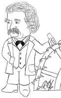 Mark Twain Chibi 2 by rjoyhelvie
