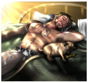 Nap Time With Pugsy by VoydKessler