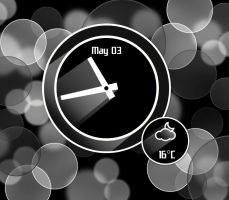 Real Shadow Clock Inverted for xwidget by jimking