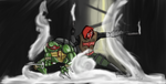 Raph And Red Hood by CrossedRunner