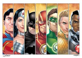Justice League by Mfiorito