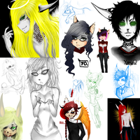 .:Old:. SKETCH DUMP 1 by CorpseBunny