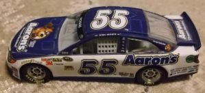 2013 Brian Vickers #55 Aaron's Toyota car by Chenglor55
