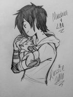 Father and son ~ by Blackbutler136