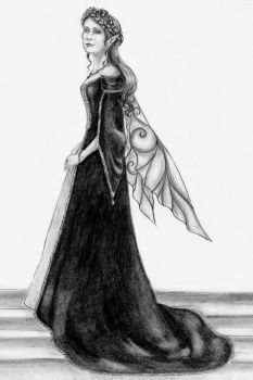 19th Century Court Gown Sketch by BelovedUnderwing