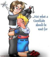 Squall and Zell - Gunblade by taostrife