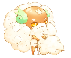 Whimsicott oc with magnificent beard by jasguin