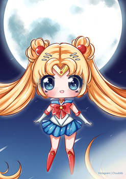 Sailor Moon chibi by Chuubibii