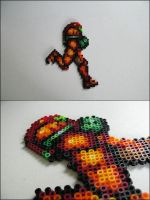 Samus running bead sprite by 8bitcraft