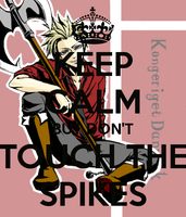 Keep Calm but dont Touch the Spikes by LittleFlower23