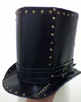 Steampunk Black top hat by Barristan