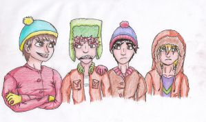 South park boys by The-CuteCat