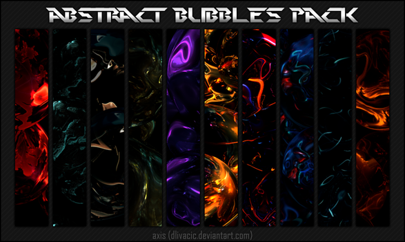 Abstract Bubbles Pack by dino-axis