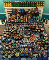All beadsprites for conventions 2014 by Bobbeyjazz