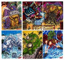 Kaiju Combat Card Set 1 by fbwash