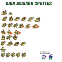 Giga Bowser Sprites by GreenHavocKirby