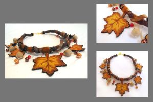 Maple leaves necklace. by julishland