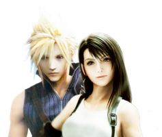 Cloud::Tifa Photoshop render by KatalunaEternity
