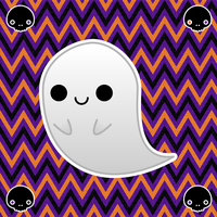 kawaii ghost by to-much-a-thing