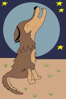 Toboe in a desert Howling by lucymaggielover