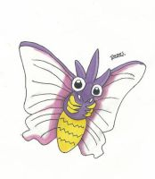 Kanto no. 049 Venomoth by Randomous
