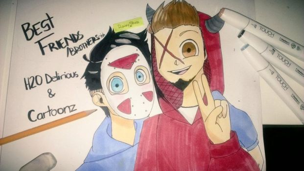 Cartoonz and H2O Delirious by RainyStarz101