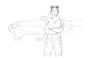 Wip Hera And Ghost by dusky2005