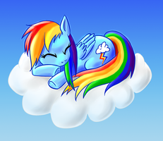 Sleeping Rainbow by SolidJB