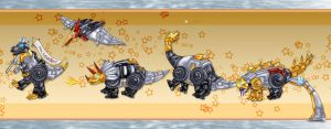 TF G1 'Mighty' Dinobots... by Taleea