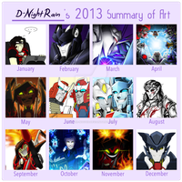 2013 Art Summary by Imber-Noctis