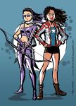 America Chavez and Kate Bishop by TheCosmicBeholder