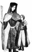 A Priest and his Daughter by Classically-DePunk
