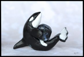 :.OOAK orca figurine.: by XPantherArtX